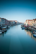 Vaporetto Framed Prints - Grand canal in blue Framed Print by Matteo Colombo