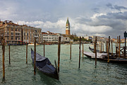 Belltower Posters - Grand Canal in Venice after storm Poster by Kiril Stanchev