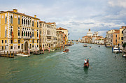 Gondolier Prints - Grand Canal in Venice Italy Print by Kiril Stanchev