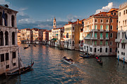 Accademia Photos - Grand Canal Sunset by Michael Blanchette