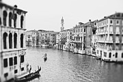 Black And White Photograph Of  Posters - Grand Canal Venice Italy Poster by Ivy Ho