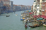 Grand Canal Viewed From Rialto Bridge Print by Sami Sarkis