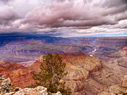Northern Colorado Digital Art Prints - Grand Canyon- Approaching Storm Print by David Doucot