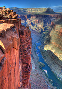 Light And Shadows Prints - Grand Canyon Awe Inspiring Print by Bob Christopher