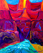 Colorful Paintings - Grand Canyon by Beth Cooper