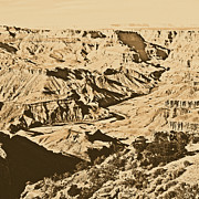 Destinations Digital Art Digital Art - Grand Canyon Eastern Sunset View Square Rustic by Shawn OBrien