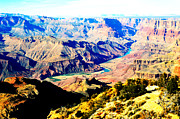 Destinations Digital Art Digital Art - Grand Canyon Eastern Sunset View Vivid by Shawn OBrien