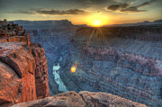 North Rim Prints - Grand Canyon First Light Print by Bob Christopher