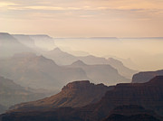 Haze Metal Prints - Grand Canyon from Lipan Point Metal Print by Alex Cassels