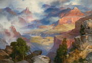Famous Artists - Grand Canyon in Mist by Thomas Moran