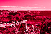 View Digital Art Originals - Grand Canyon in Red by Nadine and Bob Johnston