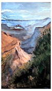 National Park Drawings - Grand Canyon Morning by Joseph Wetzel