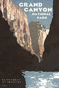Grand Canyon State Posters - Grand Canyon National Park Poster by Anthony Ross