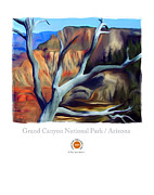 Southwest Mixed Media Posters - Grand Canyon National Park AZ Poster by Bob Salo