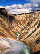 Greater Yellowstone Ecosystem Posters - Grand Canyon of Yellowstone 1 Poster by Thomas Woolworth