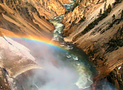 Yellowstone Photos Prints - Grand Canyon of Yellowstone 2 Print by Thomas Woolworth
