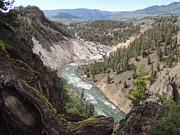 National Park Mixed Media Posters - Grand Canyon of Yellowstone - Yellowstone River Poster by Photography Moments - Sandi