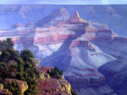 Canyon Painting Framed Prints - Grand Canyon Framed Print by Randy Follis