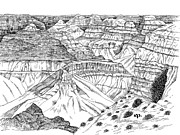 Canyon Drawings - Grand Canyon by Robert A Powell