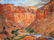 Wonder Of The World Paintings - Grand Canyon Splendor by Carol Komassa