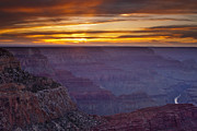 South Rim Posters - Grand Canyon Sunset Poster by Andrew Soundarajan