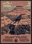 United States Travel Bureau Prints - Grand Canyon Print by Unknown