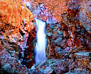 River View Mixed Media Posters - Grand Canyon Waterfall Poster by Nadine and Bob Johnston