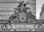 Minerva Framed Prints - Grand Central BW Framed Print by JC Findley