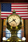 Commuters Photos - Grand Central Clock by Brian Jannsen