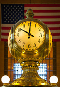 Grand Central Clock Print by Inge Johnsson