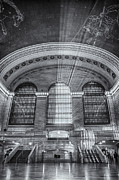 Railway Terminal Framed Prints - Grand Central Station BW Framed Print by Susan Candelario