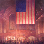 American Flag Framed Prints - Grand Central Station Framed Print by Lincoln Seligman