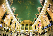 Fisheye Prints - Grand Central Station New York City on its Centennnial  Print by Diane Diederich