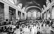 Grand Central Station -pano Bw Print by Hannes Cmarits