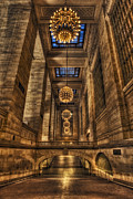 Railway Terminal Framed Prints - Grand Central Terminal Station Chandeliers Framed Print by Susan Candelario