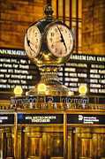 Concourse Digital Art Framed Prints - Grand Cerntral Terminal Clock No. 1 Framed Print by Jerry Fornarotto