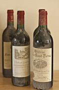 French Wine Bottles Photo Prints - Grand Cru Print by Georgia Fowler