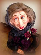 Featured Sculpture Prints - Grand Dahlia Granny Print by TriyaandNora Sculpts