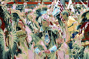 Lakota People Framed Prints - Grand Entry 18 Framed Print by Clarice  Lakota