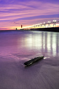 Grand Haven Prints - Grand Haven Beach and Pier Print by Twenty Two North Photography