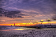 Grand Haven Prints - Grand Haven Sunset Print by Twenty Two North Photography