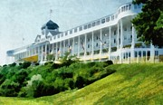 Bicycles Digital Art - Grand Hotel Mackinac Island ll by Michelle Calkins
