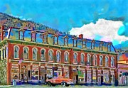 Architecture Digital Art Prints - Grand Imperial Hotel Print by Jeff Kolker