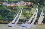 Charity Painting Metal Prints - Grand Lake Regatta Metal Print by Monte Toon