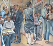 Julie Orsini Shakher Art - Grand Manner Subway No2 by Julie Orsini Shakher
