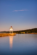 Mn Framed Prints - Grand Marais Harbor Lighthouse Framed Print by Adam Mateo Fierro