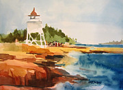 Minnesota Painting Originals - Grand Marais by Kris Parins