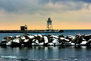 Warrington Prints - Grand Marais Lighthouse Print by Amanda Stadther
