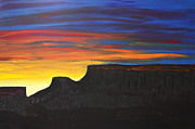 Grand Junction Painting Prints - Grand Mesa Sunrise Print by Sarah Mah