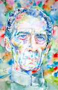Cushing Posters - GRAND MOFF TARKIN watercolor portrait Poster by Fabrizio Cassetta